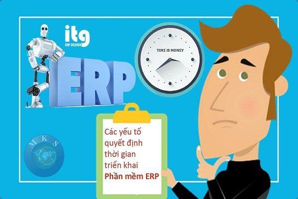 thời gian triển khai phần mềm ERP